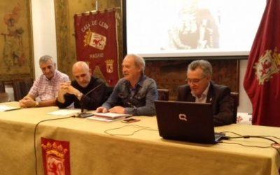 """Presentación del libro """" Virgen del Camino, en clave de misterios """"  en la casa de León en Madrid"""